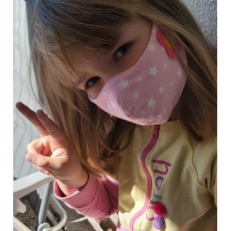 Pamučna periva maska s motivom za djecu