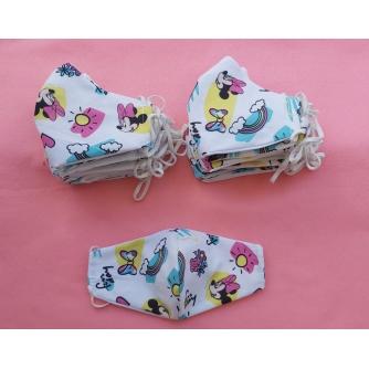 Pamučna periva maska s motivom i podesivom gumicom za djecu Mini