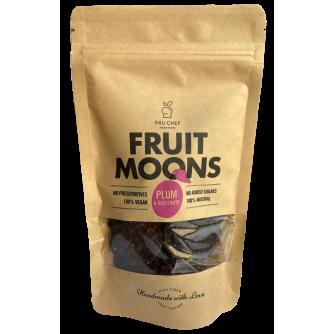 Fruit moons  -  voćna koža od šljive s lješnjacima 100g