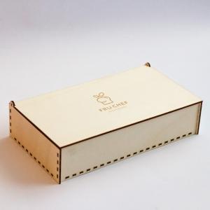 Poklon kutija drvena sa printom