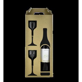 PRIMORES POKLON PAKET butelja sa dvije čaše