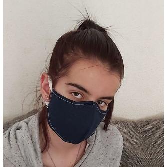 Pamučna periva maska s motivom dvoslojna